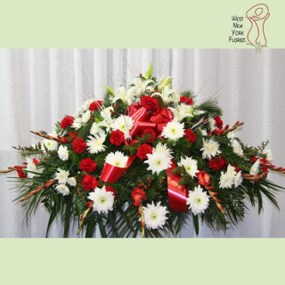 Winter Evergreen Casket