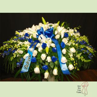 Royal Blue Casket