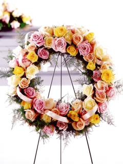 Pastel Circle of Life Wreath