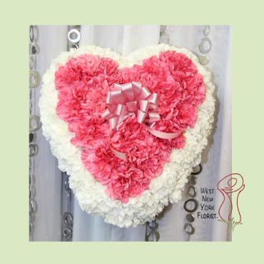 Carnation Casket Heart