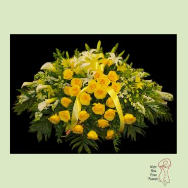 Heavenly Yellow Rose Casket