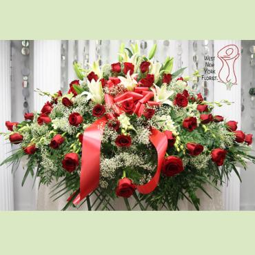 Red Rose Elegance Casket
