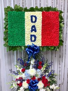 Italian Flag With Dad