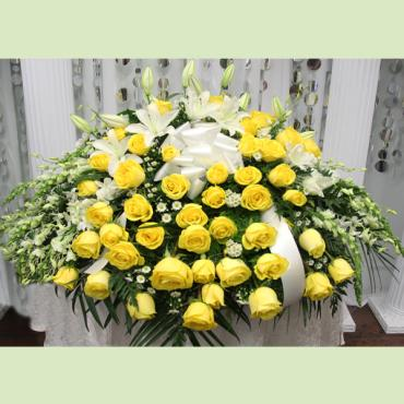 Heavenly Yellow Lily Casket