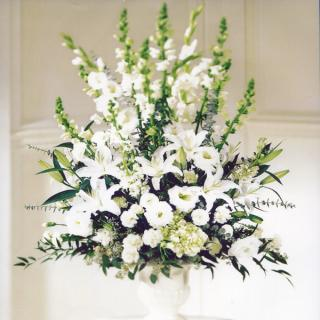 Heavenly White Lily Basket