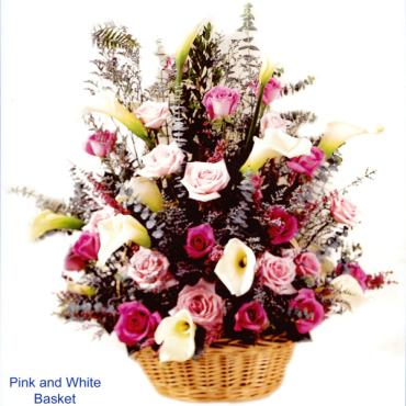 Precious Pink and White Basket
