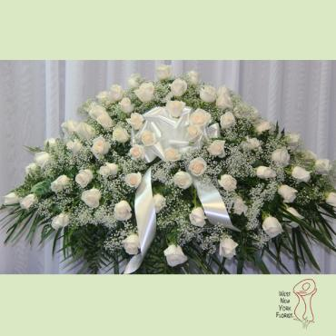 White Rose Casket