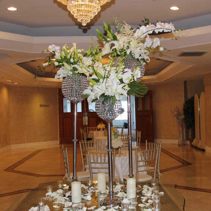 White Trio Centerpiece