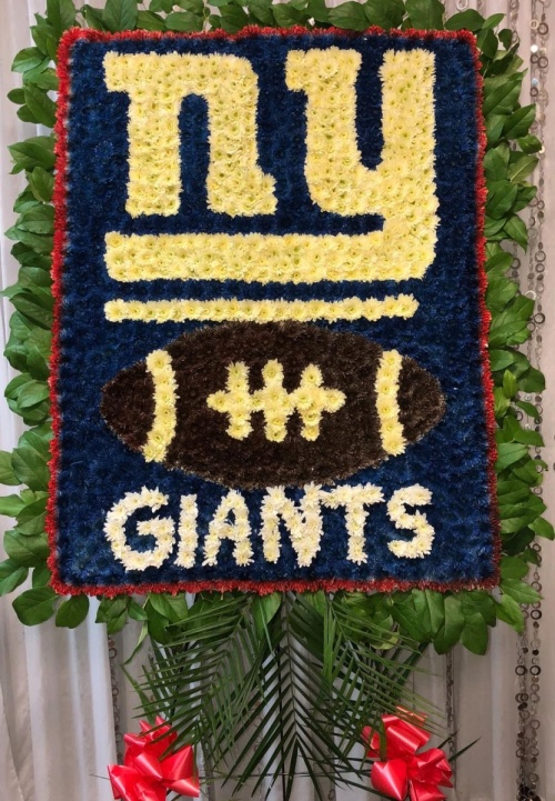 NY Giants With Football