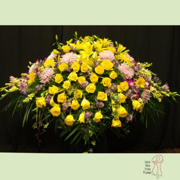 Yellow and Lavender Casket